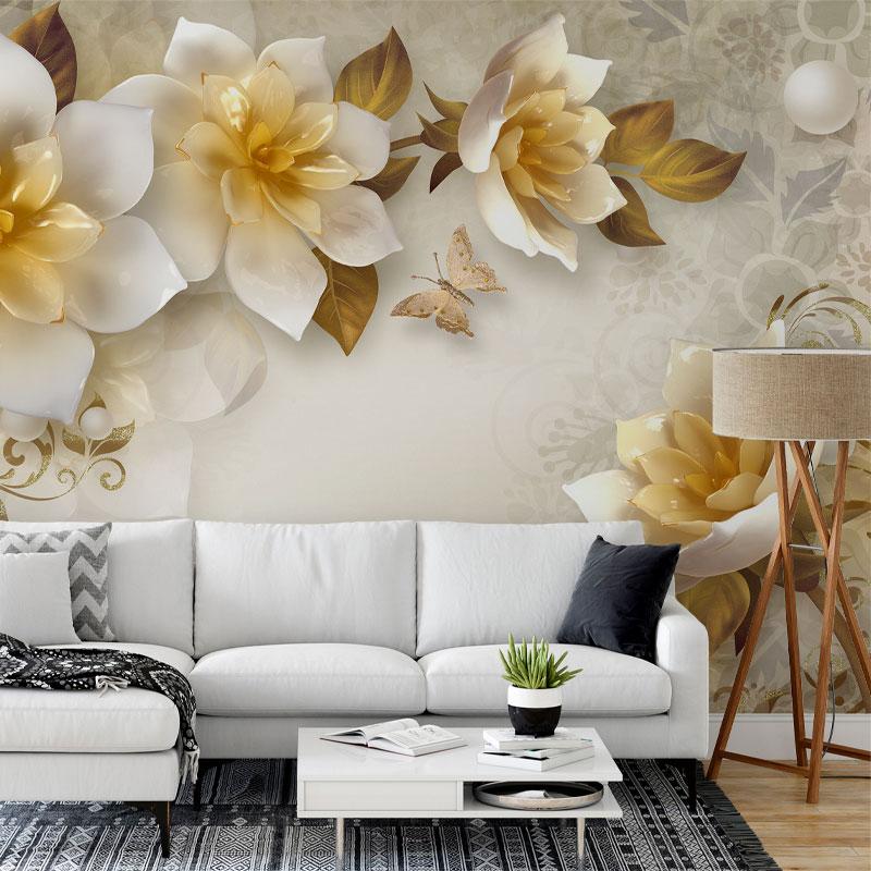 پوستر دیواری سه بعدی گل خورشیدی