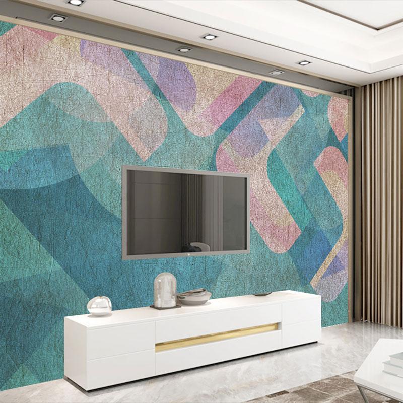 پوستر دیواری سه بعدی هارمونی رنگ در هندسه