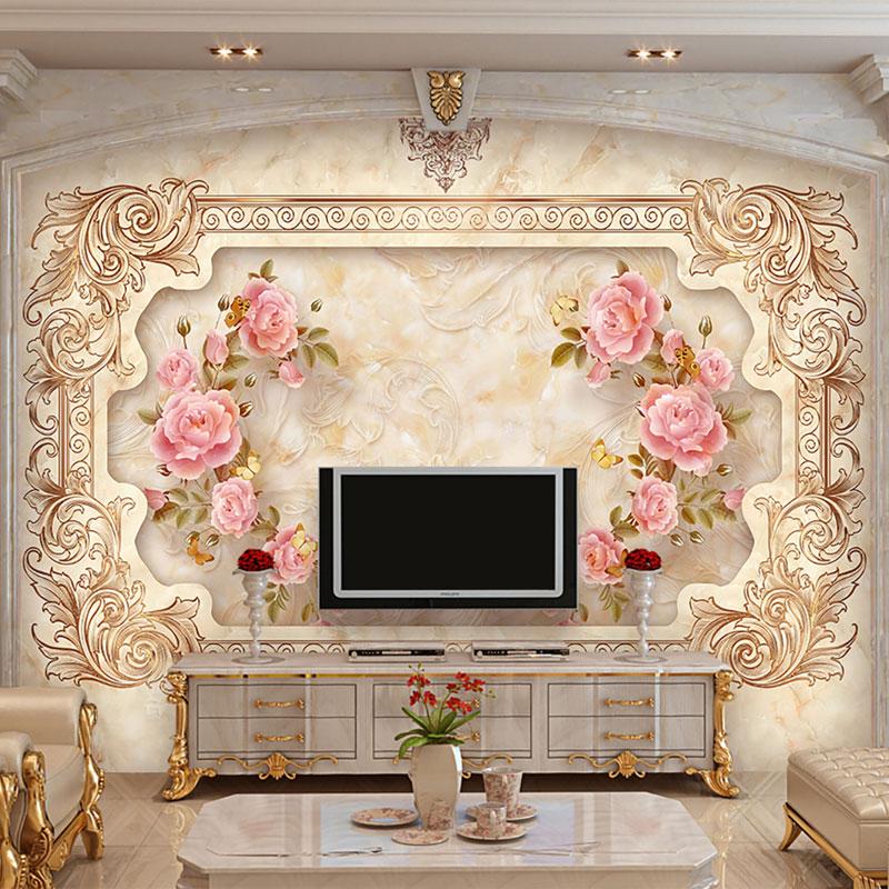 کاغذ دیواری سه بعدی تابلو گل