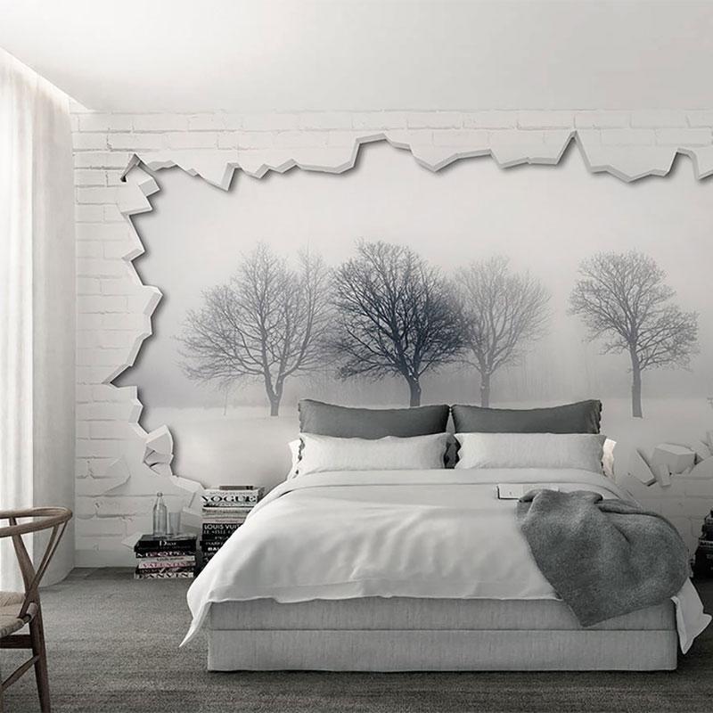 کاغذ دیواری سه بعدی شکاف زمستانی