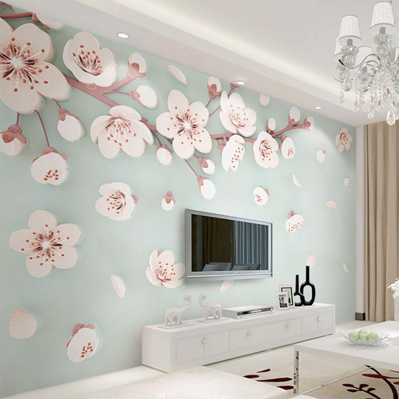 پوستر دیواری سه بعدی باران گلبرگ ها