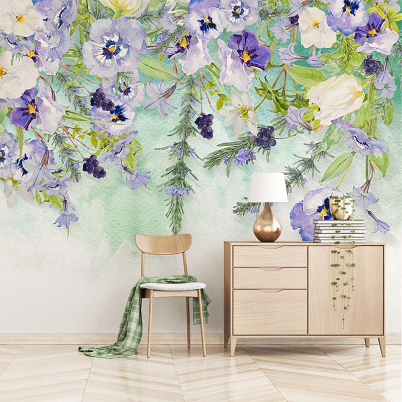 پوستر سه بعدی باغ گل بنفشه