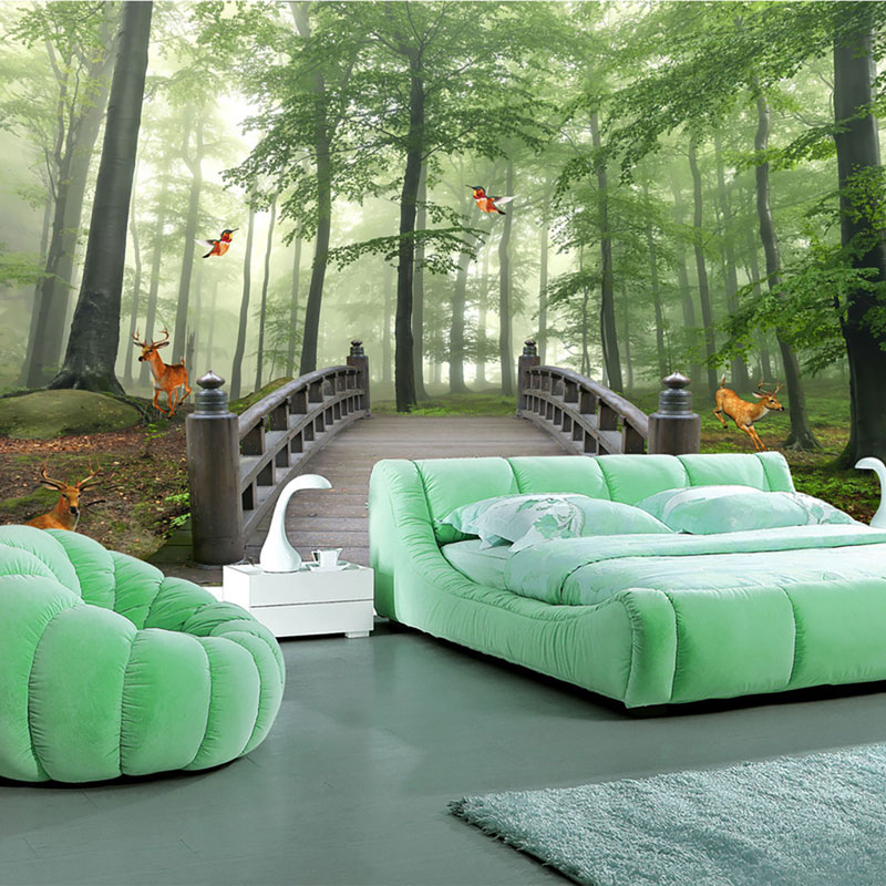 پوستر دیواری سه بعدی جنگل رویایی