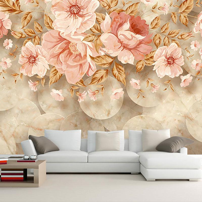 پوستر دیواری سه بعدی بوته گل کلاسیک