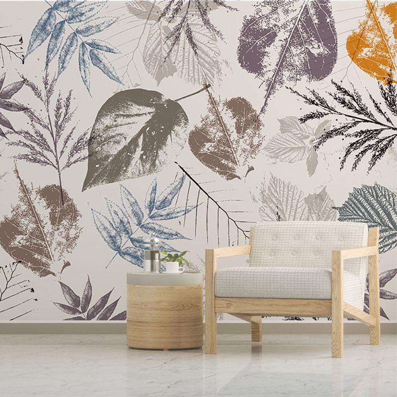 پوستر دیواری کلاسیک طرح برگ استامپی