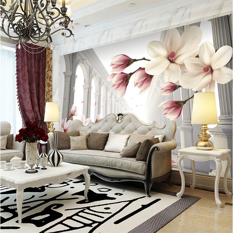 کاغذ دیواری سه بعدی قصر گل