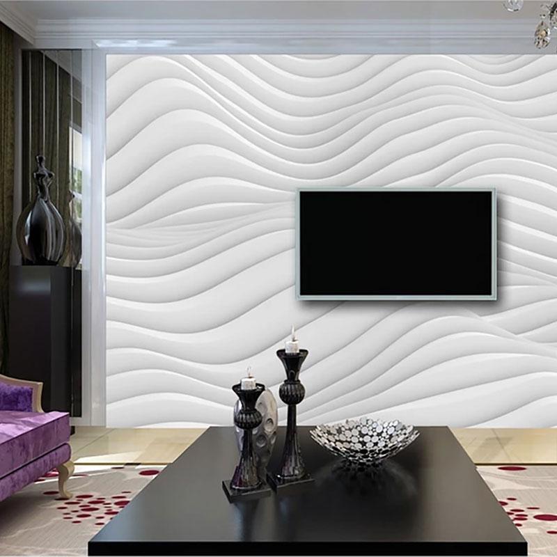 پوستر دیواری سه بعدی امواج برفی