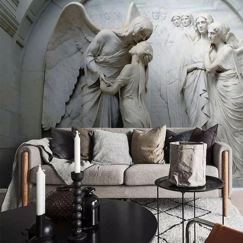 پوستر دیواری سه بعدی بوسه فرشتگان