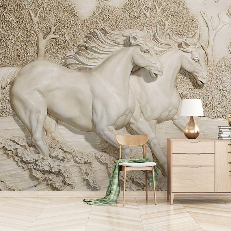 پوستر سه بعدی اسب یونانی