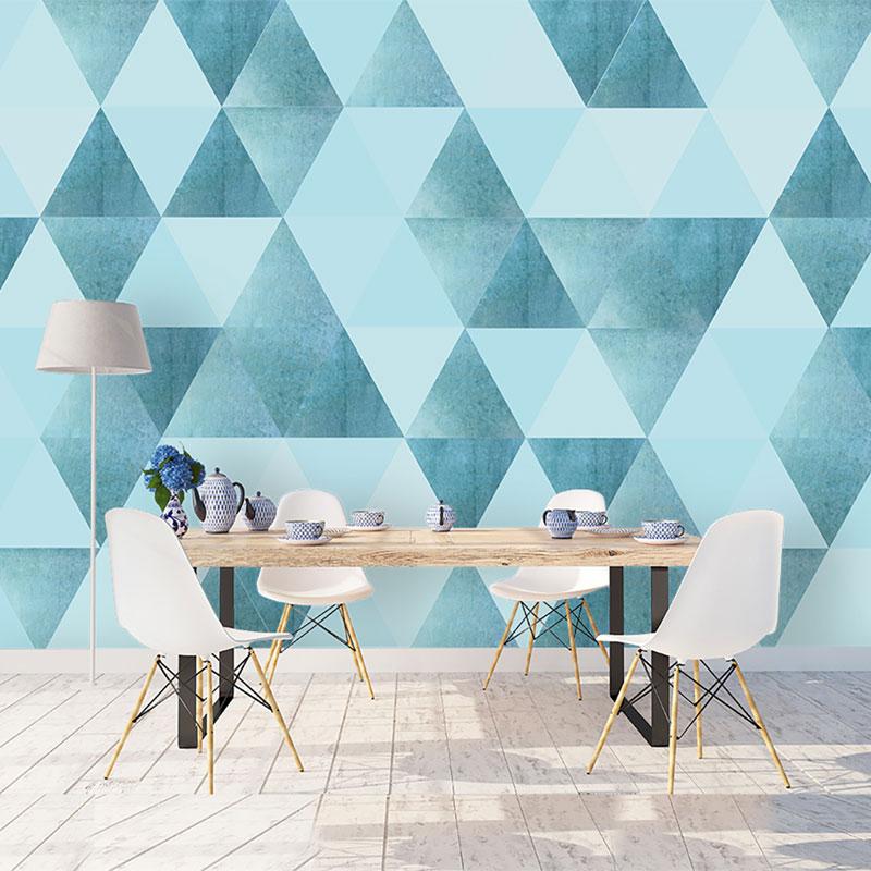 پوستر دیواری کلاسیک طرح مثلث فیروزه ای