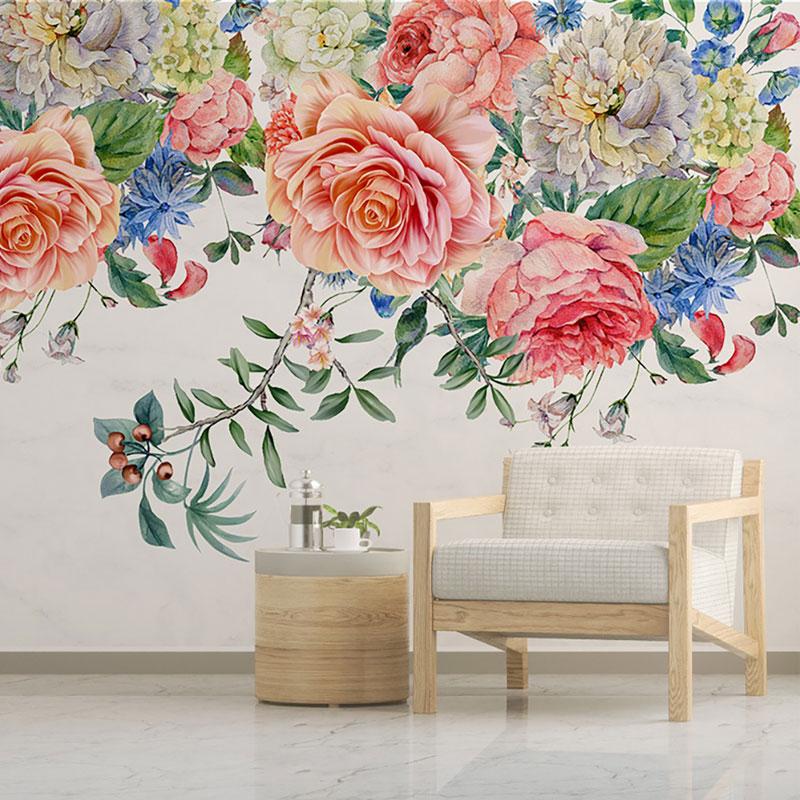 کاغذ دیواری کلاسیک طاق گل رز