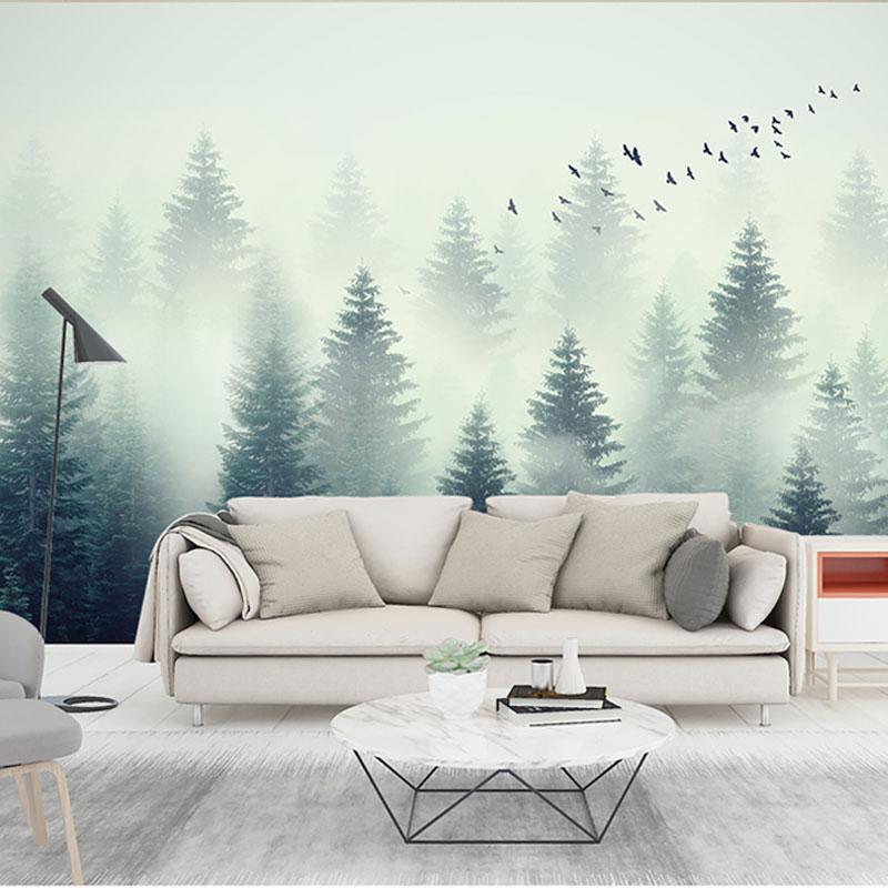 پوستر دیواری کلاسیک طرح جنگل ابر