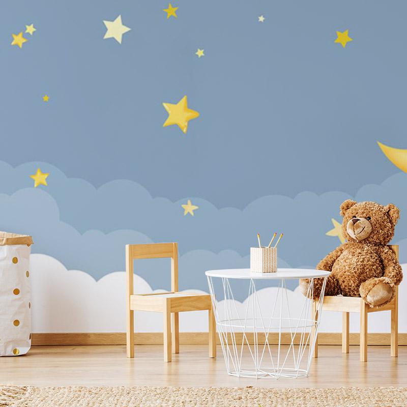کاغذ دیواری کودکانه دنیای آسمان