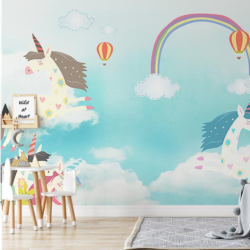 پوستر دیواری کودک اسب های پرنده