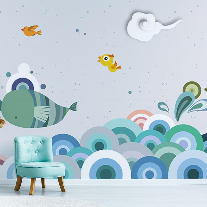 کاغذ دیواری پوستری شادی ماهی ها