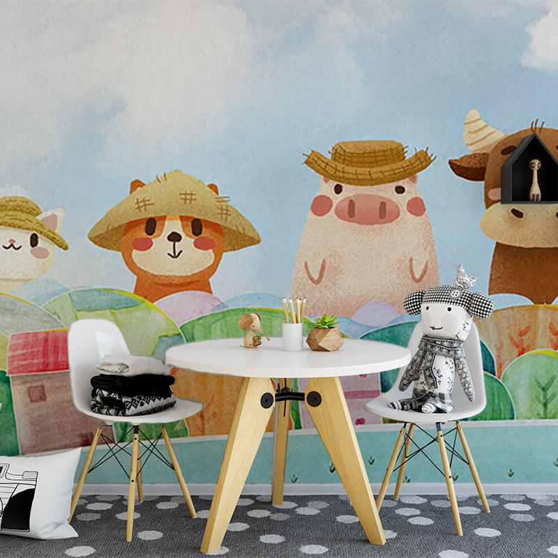 کاغذ دیواری کودکانه مزرعه حیوانات