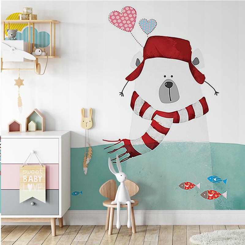 پوستر دیواری کودکانه خرس بامزه