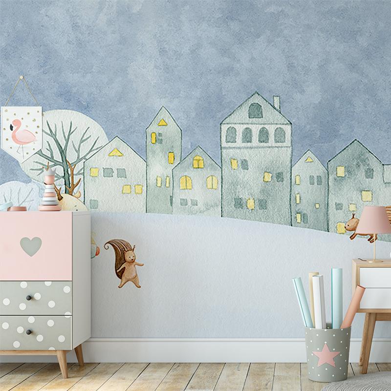 کاغذ دیواری کودک روزهای برفی